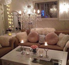 79 Luxury Small Living Room Apartment Decor Ideas - Page 2 of 2 Cozy Living Rooms, Home Living Room, Living Room Decor, Bedroom Decor, Glamour Living Room, Living Room Inspiration, Home Decor Inspiration, Decor Ideas, Room Ideas