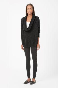 COS   Draped-neck wool jumper
