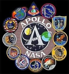 Apollo Mission Patch Collage