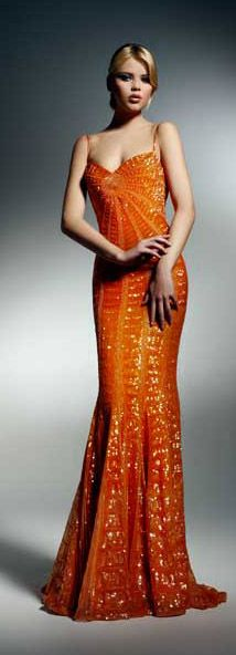 I just love the color orange this year. Zuhair Murad 2009 Fall Collection