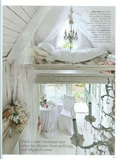 Upstairs in the tiny house.