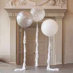 Image result for oversized balloons white clear