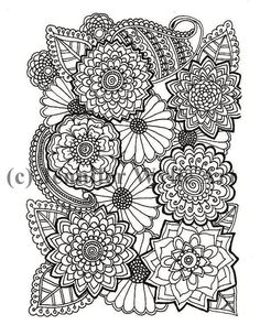 flower adult coloring page colouring page coloring book printable adult coloring hand