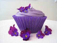 a purple violet cupcake for sig kap