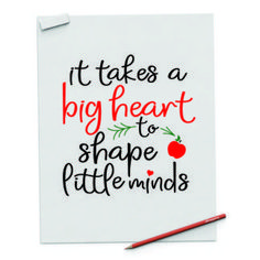 """"""" Teachers takes a hand opens a mind touches a heart"""" Digital File - spoonyprint Interior Design Resources, Heart Shapes, Take That, Mindfulness, Teacher, Digital, Printables, Big, Professor"""