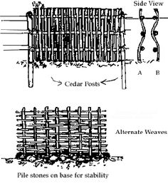 wattle fence instructions