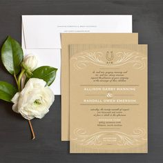Lucky in Love Western Wedding Invitations by Elli