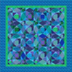 STORM AT SEA QUILTING PATTERN | FREE Quilt Pattern