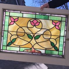 Art Antique Nouveau Stained Glass Windows | eBay