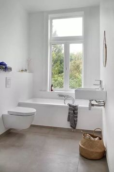 Cool and practical bathroom ideas - White Bathroom minimalist design-Scandinavian interior Bath rattan - Bathroom Toilets, Bathroom Renos, Laundry In Bathroom, Bathroom Interior, Modern Bathroom, Small Bathroom, Bathroom Ideas, Bathroom Designs, White Bathrooms