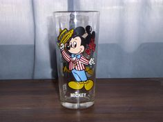 MICKEY MOUSE Pepsi 1978 Walt Disney productions collector series glass by ShopOfCraftsByMyrna on Etsy #mickeymousecollectible