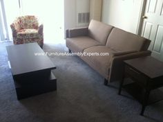 Overstock Sofa Bed, Coffee Table And Night Stand Assembled In Loudoun  County Va By Furniture