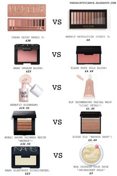 Elf nars makeup dupes nars orgasm bobbi brown benefit cosmetics blogging beauty blog
