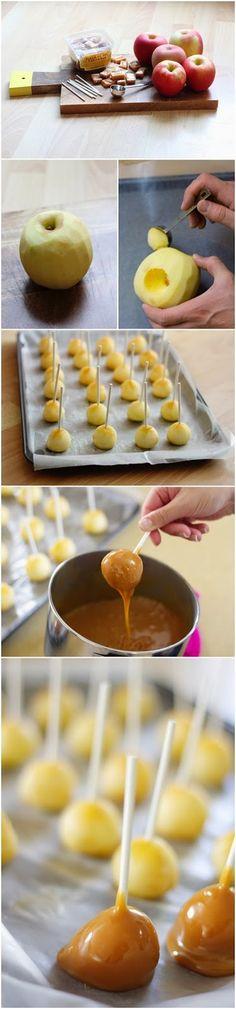 DIY Mini Caramel Apples ~ Focuseat