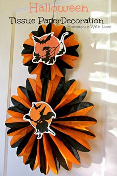 Homespun With Love: Halloween Tissue Paper Decoration