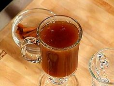 Hot Apple Cider with Rum Recipe : Emeril Lagasse : Recipes : Food Network Hot Buttered Rum, Spiked Apple Cider, Fall Cocktails, Winter Drinks, Spiced Rum, Cocktail Recipes, Drink Recipes, Fireball Recipes, Punch Recipes