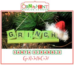 Santa Scrabble! Ten fun and easy Scrabble ornament ideas!