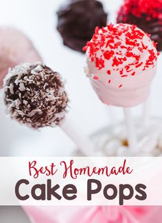 Best Homemade Cake Pops - There are so many ways to make homemade cake pops - it's all up to your imagination. Here are 10 suggestions you can try. Click here to read more.