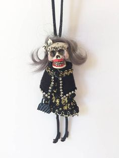 Day of the Dead Skeleton Catrina Hanging Tree Lady Doll Beautiful and original design  SLVH