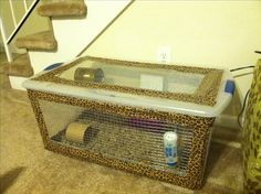Homemade Hamster Cage