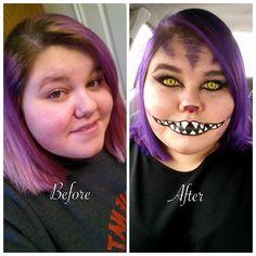Cheshire Cat cosplay makeup