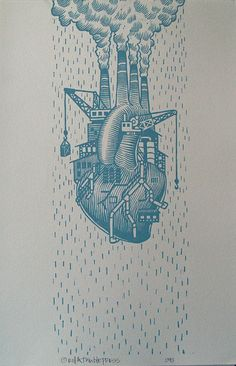 Love Factory ~ by rollandtumblepress  #art #illustration #letterpress #myt
