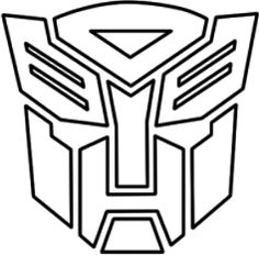 Transformers symbol coloring pages to print ~ The Autobot symbol is often found on the cover or back ...