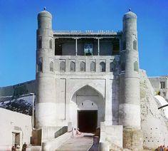 La entrada al palacio del emir en Bukhara (1907)