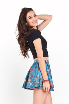 http://bit.ly/1lmghcF - $10 for any Denim Patches Printed Item on our site!!! Like this Denim Patches Skater Skirt!! #discount #sale #leggings #skirts #madeintheusa #skirt #girl #fashion