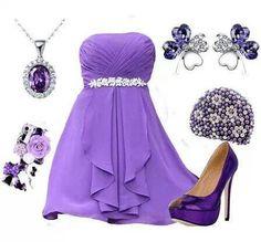 Lilac purple formal