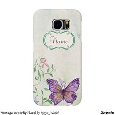 Vintage Butterfly Floral Samsung Galaxy S6 Case