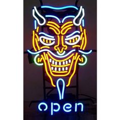 Neonetics Wall Lighting Devil Open Neon Sign - devil-open-neon-sign