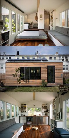 The tiny house pictured here looks to me like one of those evolutionary steps that will catch on and be emulated and built-upon…