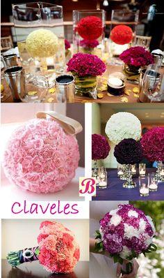 A pesar de ser muy económicos, los claveles pueden lucir sensacionales como flores de boda. http://www.ideasparaorganizarboda.com/2014/08/flores-de-boda.html