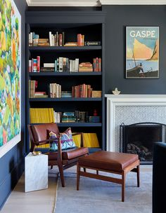 This Vibrant Family Home Proves Small Changes Can Make A Big Impact – Home Office Design Vintage Classic Home Decor, Interior, Bookshelves Built In, Office Interiors, Home Decor, Home Office Design, Interior Design, Classic House, Vibrant Living Room