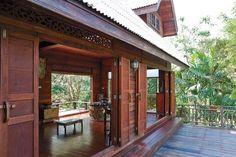 Best Home Exterior Blue Dreams Ideas Asian House, Thai House, Caribbean Homes, Home Design Diy, Bungalow House Design, Exterior House Colors, House Entrance, Tropical Houses, Trendy Home