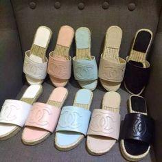 Buy CHANEL ST79097 35-40,Women Sandals Wedge high heel flats Sandals Slippers shoes flats Slippers store