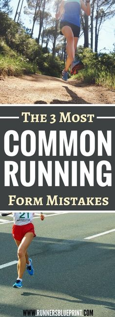 3 Running Form Mistakes Runners Make & How to avoid them Is your running form perfect? check your te Running Routine, Running Plan, How To Start Running, Running Workouts, Running Tips, Running Training, How To Run Faster, Ninja Training, Race Training