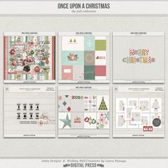 Once Upon A Christmas is a gorgeous holiday-themed collaboration between Laura Passage and Anita Designs, created to help you quickly and easily document the month of December and create gorgeous coordinated albums in no time at all.