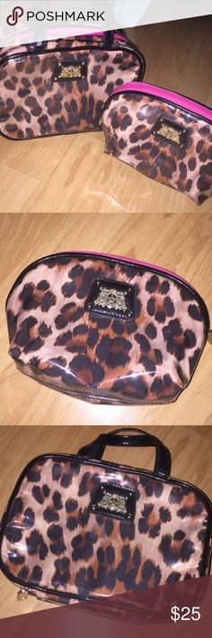 2 juicy couture cheetah makeup cases Selling them as a set!! Great for going on vacation or if you just like to keep things organized! Juicy Couture Bags Cosmetic Bags & Cases