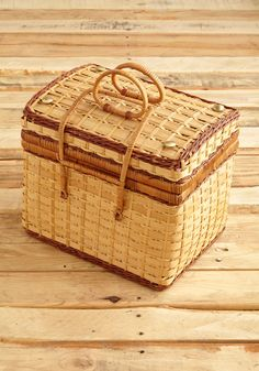 Vintage Packed for the Picnic Basket, #ModCloth