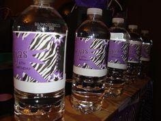 Decoration on water bottles