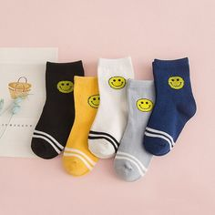5 Pair/lot New Soft Cotton Boys Girls Socks Cute Cartoon Pattern Kids Socks For Baby Boy Girl 7 Kinds Style Suitable For 1-10Y