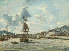 "Johan Barthold Jongkind, Dutch, 1819-1891, ""Entrance to the Port of Honfleur"", 1863/64"