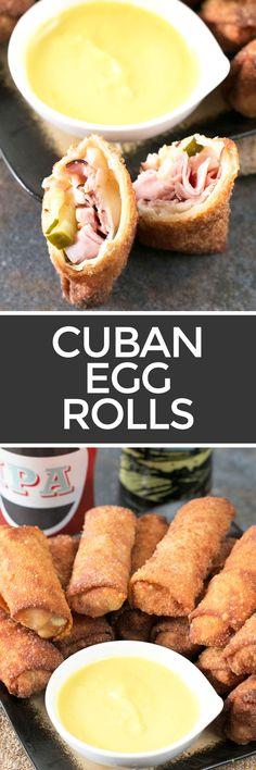 Cuban Egg Rolls   cakenknife.com