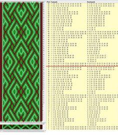36 tarjetas, 3 colores, repite cada 32 movimientos // sed_697a diseñado en GTT༺❁