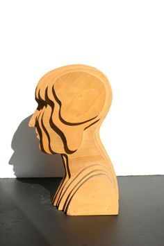 Abstract Folk Art Plywood Bust | From a unique collection of antique and modern…