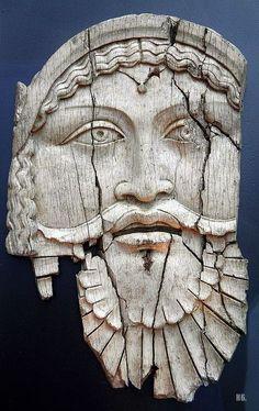 Ivory plaque depicting Dionysus. 1st.century.B.C.- 1st.century. A.D. Sepino, Italy
