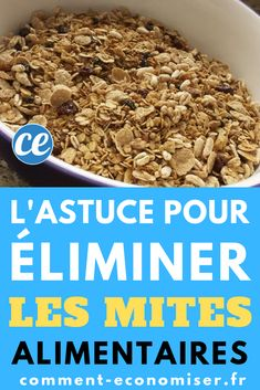 L'astuce pour éliminer les mites alimentaires. Fall Crafts, Dog Food Recipes, Breakfast, Health, Gardening Hacks, Creative Things, Helpful Tips, Homemade Drain Cleaner, Autumn Crafts