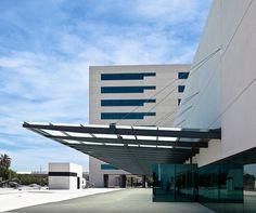 projeto arquitetônico de um hospital moderno